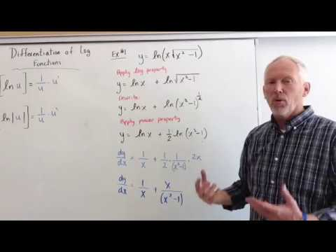 Differentiation of Natural log functions (more challenging examples)