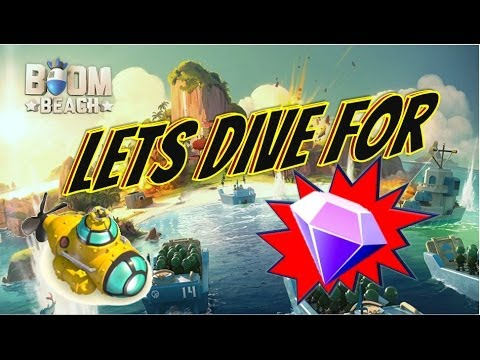 Boom Beach Let's Dive For Crystals With The Submarine MAX Level And Mutch More