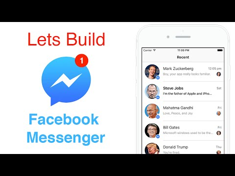 Swift: Facebook Messenger - Auto Layout Using Code or Programmatically (Ep 1)