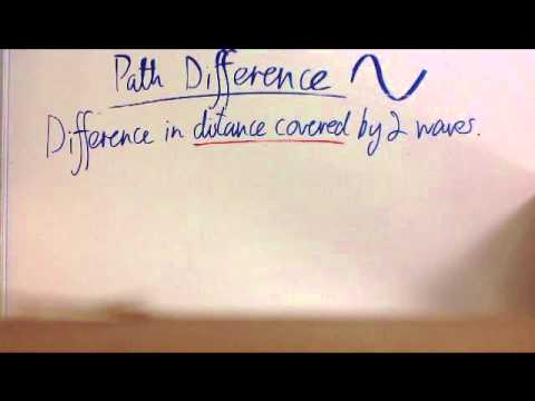 Path difference