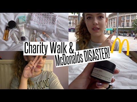 VLOG: Charity Walk & McDonalds DISASTER!