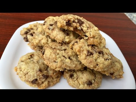 Coconut Chocolate Chip Oatmeal Cookies | Kitchen Time with Neha