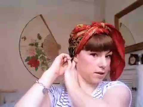 PIN UP head scarf: The 1950's Turban