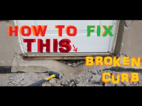 How To Fix a broken Curb - Concrete Sill Repair or Replace - Side Entrance