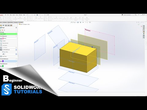 SolidWorks Tutorials  - How to Make New Planes SolidWorks