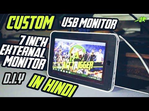 custom external monitor( in hindi ) custom usb monitor #custom sundays episode 1