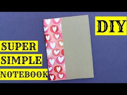 DIY CEREAL BOX NOTEBOOK   SUPER EASY !!