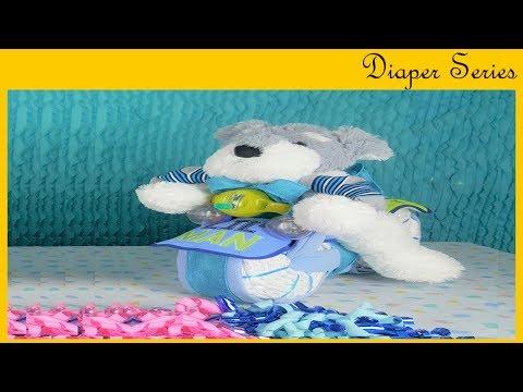 Motorcycle Diaper Gift #1 (BABY SHOWER DIY SERIES)
