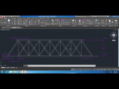 How to draw a bridge in AutoCAD fast and easy tutorial
