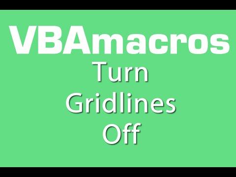 Turn Gridlines Off - VBA Macros - Tutorial - MS Excel 2007, 2010, 2013