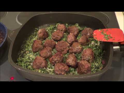 Low Carb Meatballs with Creamed Spinach