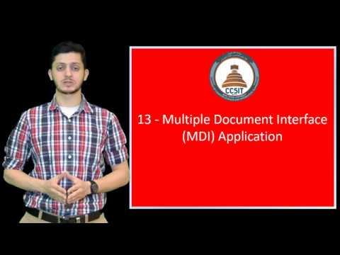 WinForm Tutorial Using C# 13 - Text Editor Using Multiple Document Interface MDI
