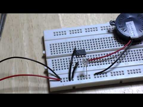 Simple Touch Alarm Circuit using IC 555