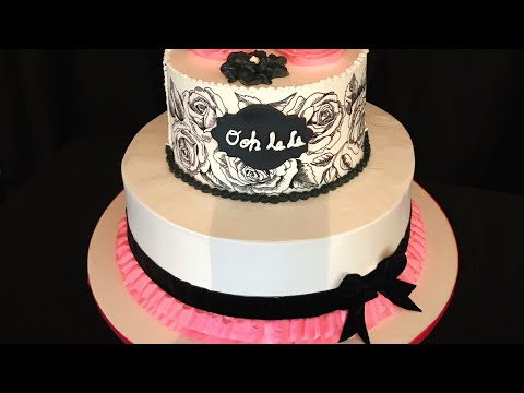 Paris theme cake ( pastel con tema de Paris )