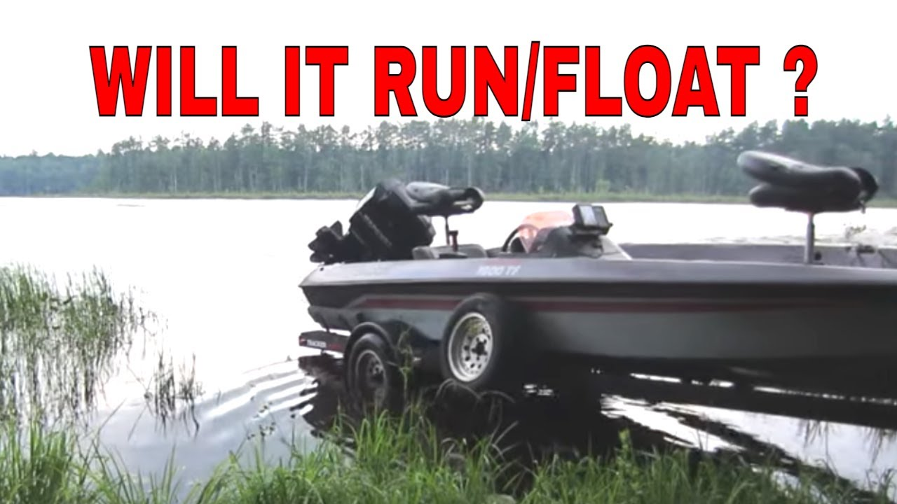 Busted Bass Boat, 1st Run after10 Years under a tarp.
