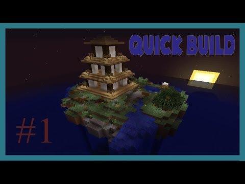 minecraft - quick build timelapse #1 Mini Pagoda Island