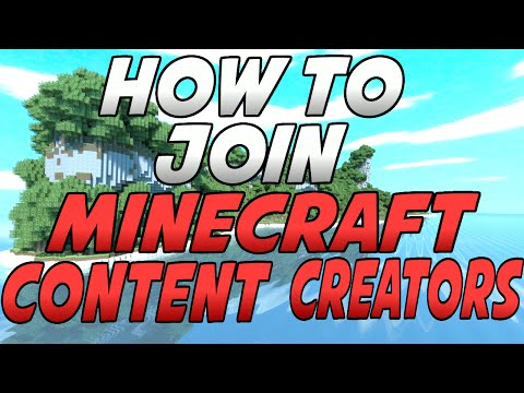 How To Join Minecraft Content Creators!