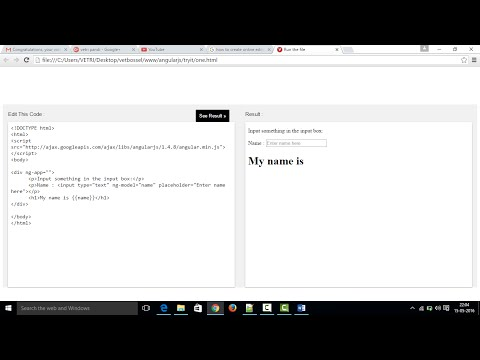 Create Online Editor like w3schools (Try it yourself) using HTML,CSS and JS