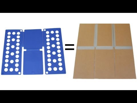Shirt Folding Board Made from Cardboard and Duct Tape