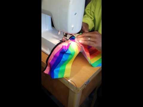 How to make men's rainbow stripe bikini brief underwear (Part 7).