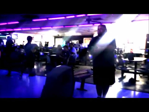 Winter Garden Bowl Friday Night BOWLING Cosmic Black Laser Lights Where to Orlando Florida Review