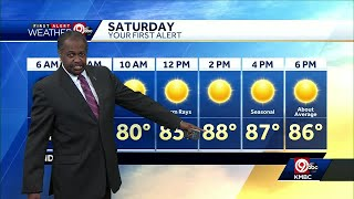 First Alert: Sunny, warm for your Saturday