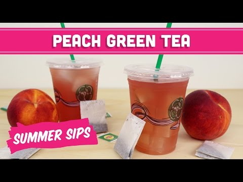 Shaken Iced Peach Green Tea & Lemonade (Starbucks DIY) Healthy! Summer Sips - Mind Over Munch