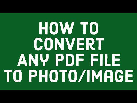 How To Convert Any PDF File To Photo/Image_[Best Way ]