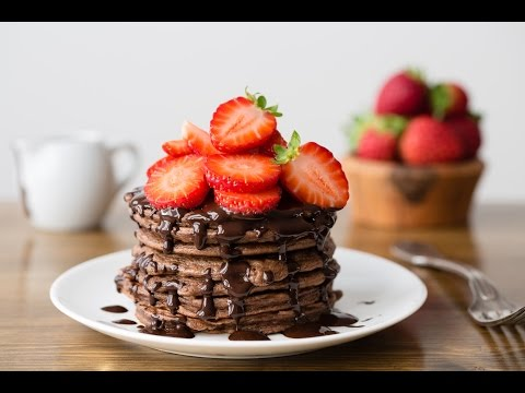 The Best Dang Chocolate Pancakes Ever (And they are healthy!)