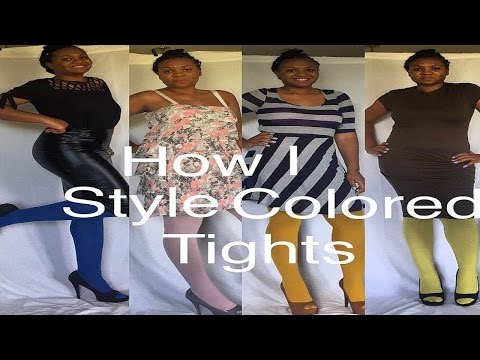 How I Style Colorful Tights | Date Night Lookbook