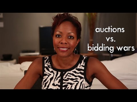 Buying A home - Auction vs. Bidding War