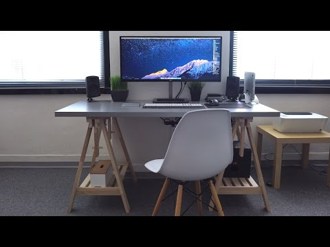 Minimal Ultrawide Apple Desk Tour! [4K]