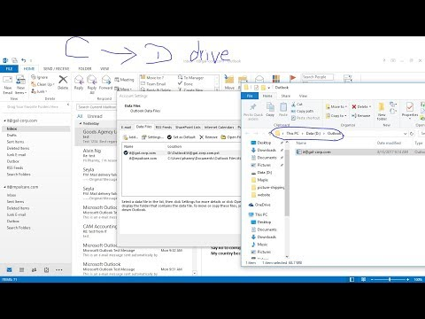 Microsoft Outlook   How to change data file in Microsoft Outlook ?