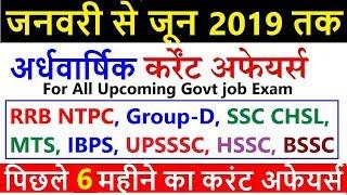 Last 6 month top current affairs 2019 | current affairs 2019 | railway ntpc, group d, ssc mts, hssc