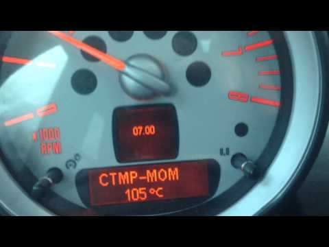 MINI Cooper S R56 coolant temperature after warm up