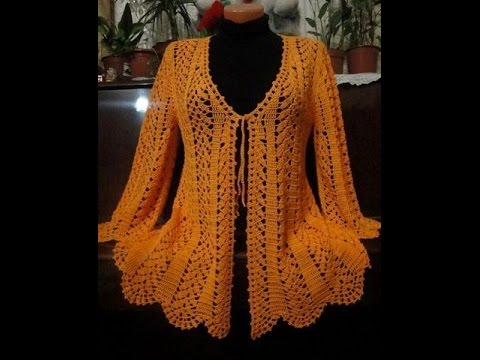 656a405180916d Easy crochet cardigan or sweater - Crochet Shell Cardigan Pattern