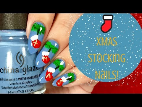 🌿 Christmas Stocking Nail Tutorial | Day 12 of my 12 days of Christmas! 🌿