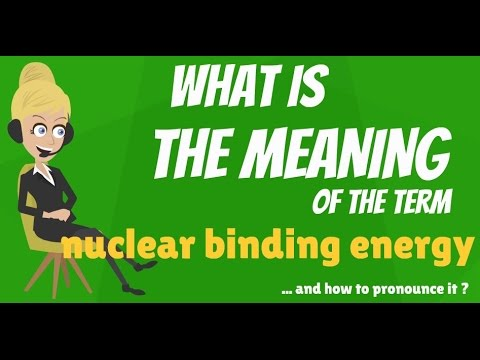 What is NUCLEAR BINDING ENERGY? What does NUCLEAR BINDING ENERGY mean?
