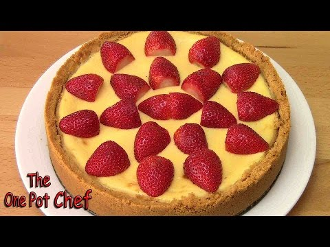 New York Baked Cheesecake | One Pot Chef