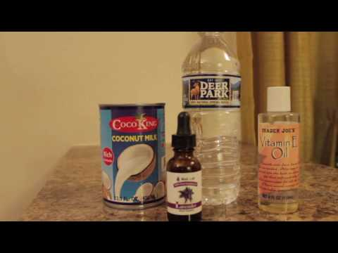 Coconut Milk Leave-in Conditioner | DIY | Homemade
