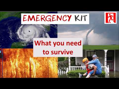 Build an emergency kit   What you need to survive or evacuate natural disasters