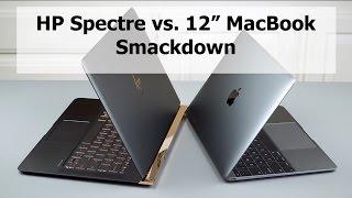 """HP Spectre vs  12"""" Macbook Comparison Smackdown"""