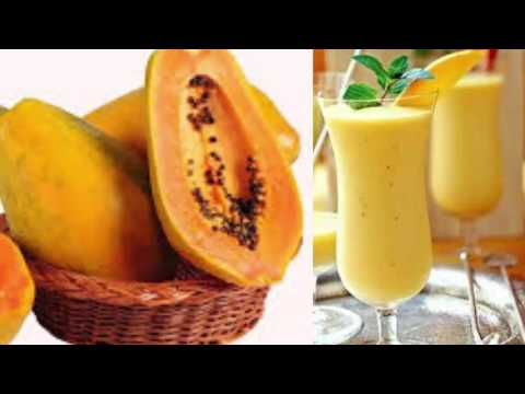 Papaya Smoothie and Oatmeal   LOSE BELLY FAT AND CLEAN THE COLON!!