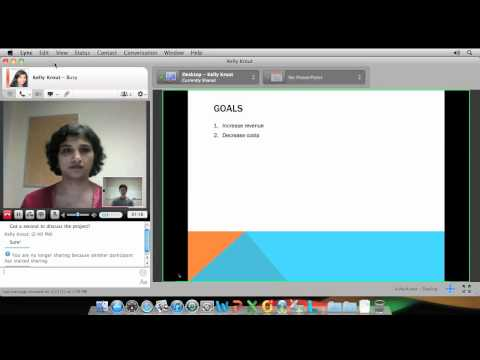 Communicating using Lync for Mac