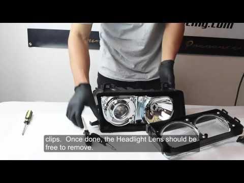 DEPO E36 Headlight Lens Removal