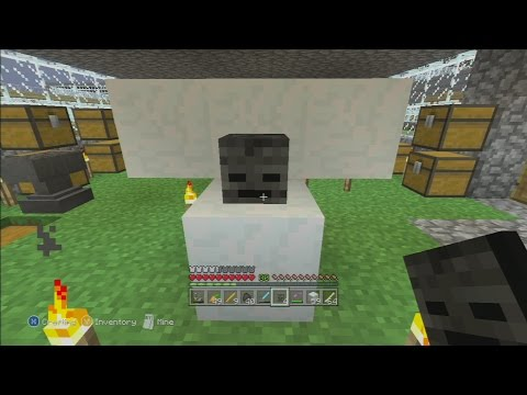Minecraft xbox 360 wither skull survival mode tu19