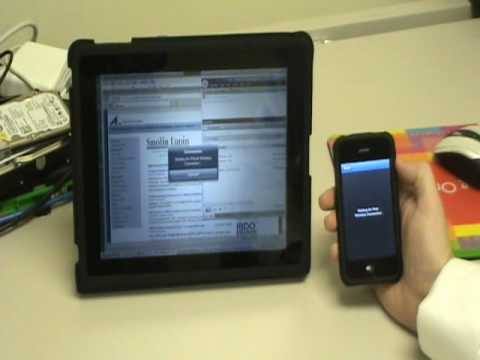 Using an iPad to connect to your Work Desktop with the iPhone TouchPad Mouse