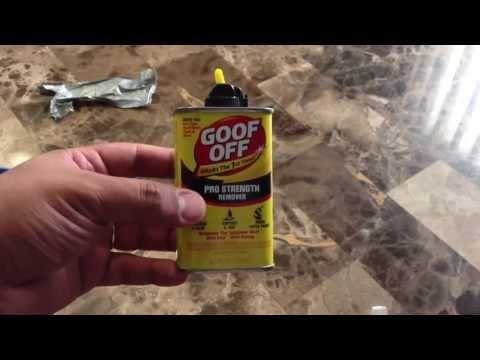 Goof Off Review - Removing Duct Tape Adhesive From Metal Scissors