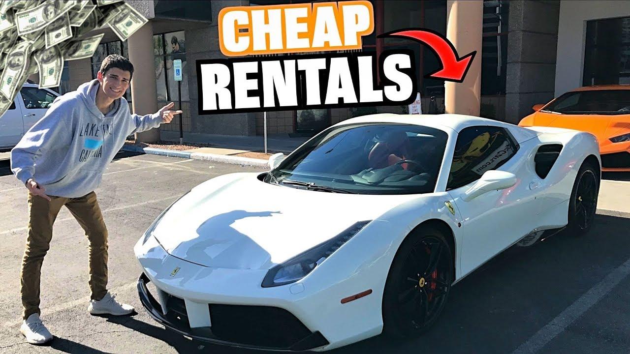 We RENTED Budget Supercars In Las Vegas! (Royalty Ferrari 488 & Lambo)