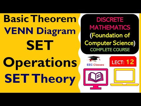 SET Theory Lecture #2 - Basic Theorem, VENN Diagram, SET Operations - FOCS Lectures Hindi